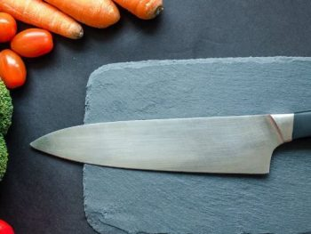how to sharpen a kitchen knife with a stone